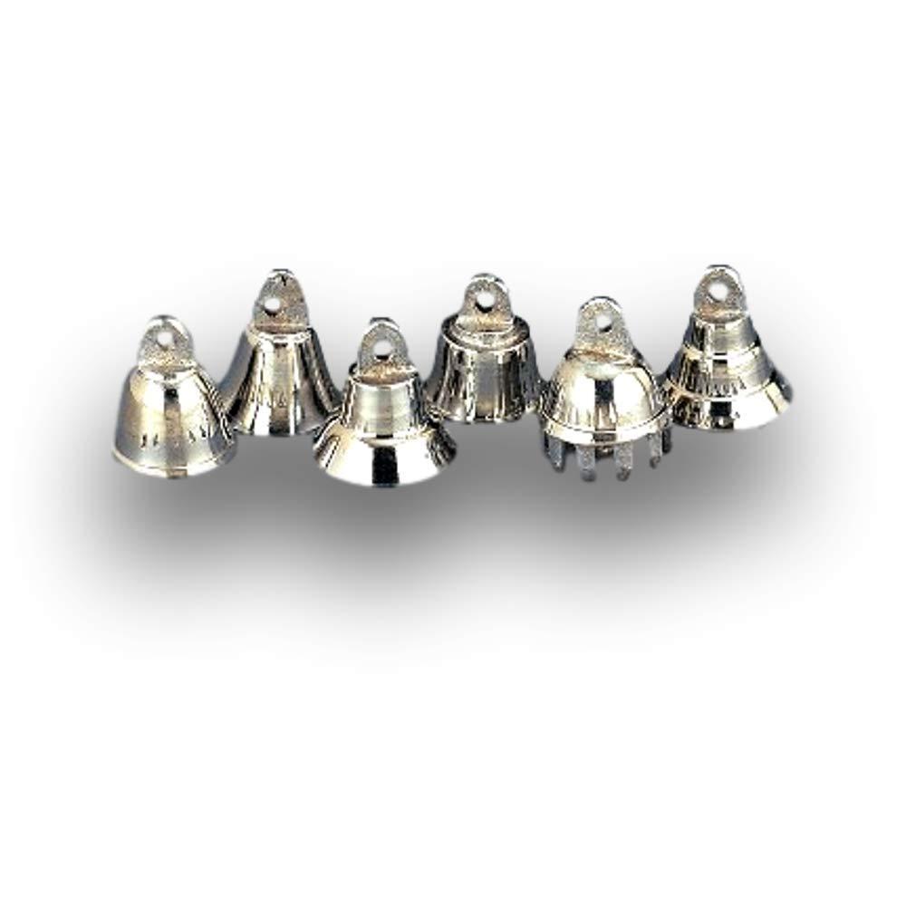 One Dozen about 0.75 High Silver Tone Bells Wedding Motorcycle Chrome Plated Brass Bells bellsonline.net