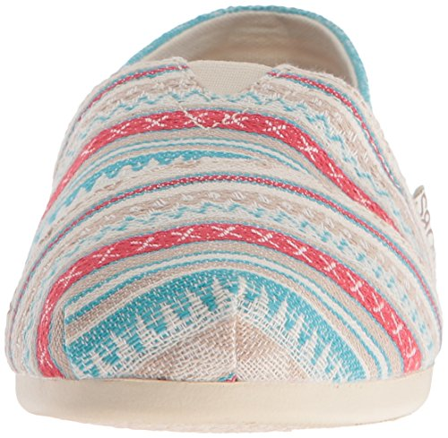 Bobs From Skechers Womens Plush Fashion Slip-on Flat Aztec Off White