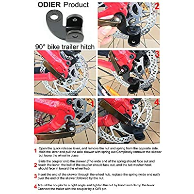 ODIER Bike Trailer Coupler 12.2MM Steel Hitch for Burley Trailers Hitch Replacement (90° Coupler): Sports & Outdoors