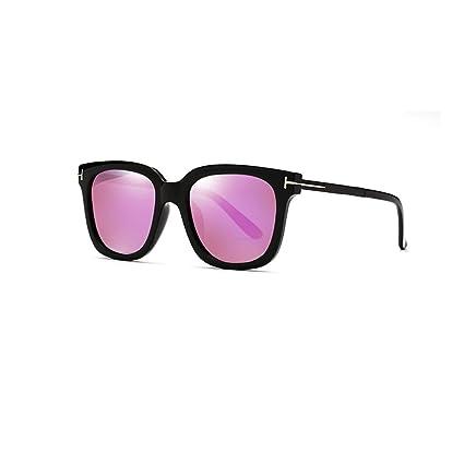 HUACANG Gafas de Sol para Mujer Protección UV 400 Gafas 100% Redondas Gafas para Mujer