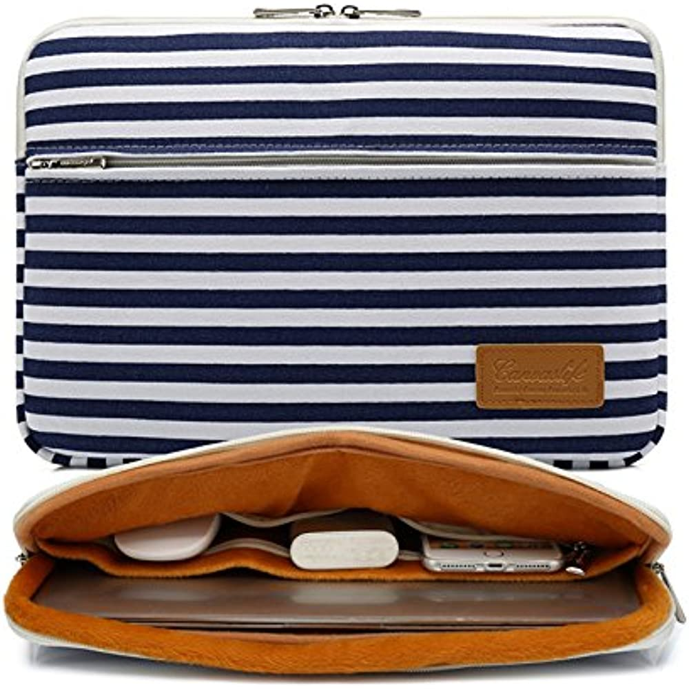 aed913726702 Details about Breton Sleeves Stripe Pattern 360 Degree Protective 13 Inch  Canvas Laptop With