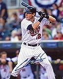 Chris Hermann At Bat Minnesota Twins Signed Autographed 8x10 Photo W/Co - Autographed MLB Photos