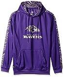 Zubaz NFL Baltimore Ravens Mens Pullover Hood, Purple, Medium