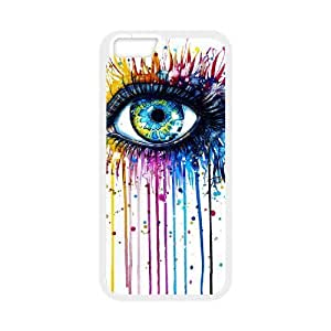 "Custom Colorful Case for Iphone6 4.7"", Rainbow Eye Cover Case - HL-R639211"
