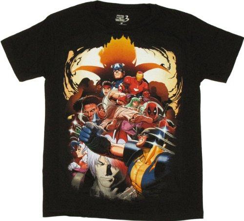Marvel vs Capcom 3 Group T-Shirt Sheer X-Small