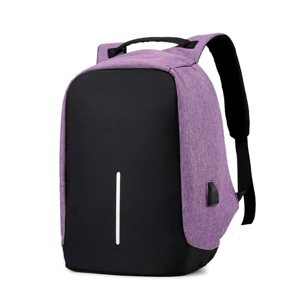 Anti-Theft Waterproof Business Laptop Backpack for Unisex Teenager College Travel Pack Daypack with USB Charging Port Purple