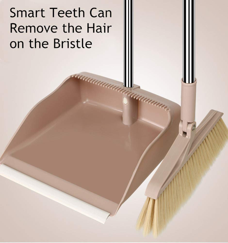 Computer Mini Broom and Dustpan Set,Dustpan and Brush to Clean Table,Desk,Computer,pad and Automobile seat. Rose Red