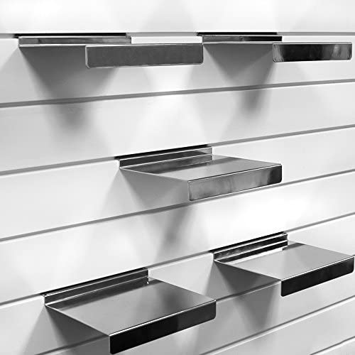 5-Pack Proslat 39017 Evolia Shoe Shelf for Slatwall Chrome Home ...