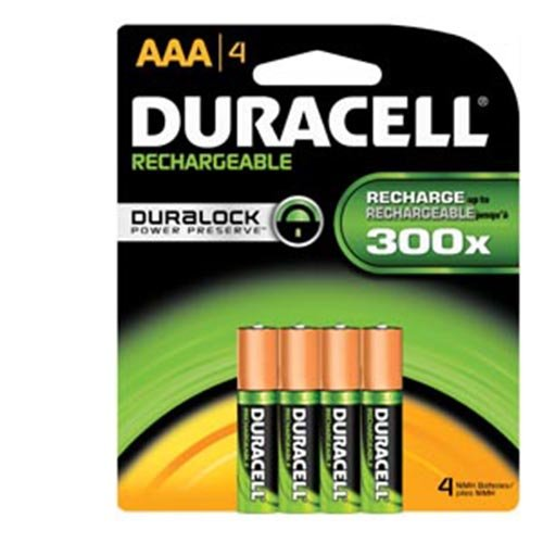 Duracell NIMH Pre-Charged Rechargeable Battery Size AAA - Pack of 4