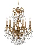 Crystorama 5146-AG-CL-MWP Crystal Six Light Chandeliers from Yorkshire collection in Brassfinish, Review