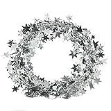 Haodeba Christmas Decorations 7.5M Long Glitter Star Tinsel Garland Star Rattan Decorative Colored Ribbon Cane Banner