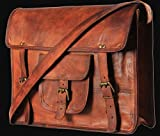 "IndianHandoArt 15"" Inch Leather Bag Leather Messenger Bag for Men and Women Crossbody Bags for Men and Women"