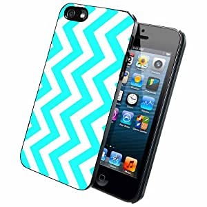 Light Blue Chevron - Phone Case Back Cover (iPhone 5/5s ? Dual Layer)