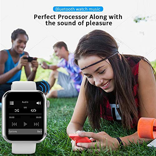 Smart Watch Sim Card Fitness Bluetooth IOS Android Watch Phone Watches Camera Music player brand:TONWIN (Color : Silver)