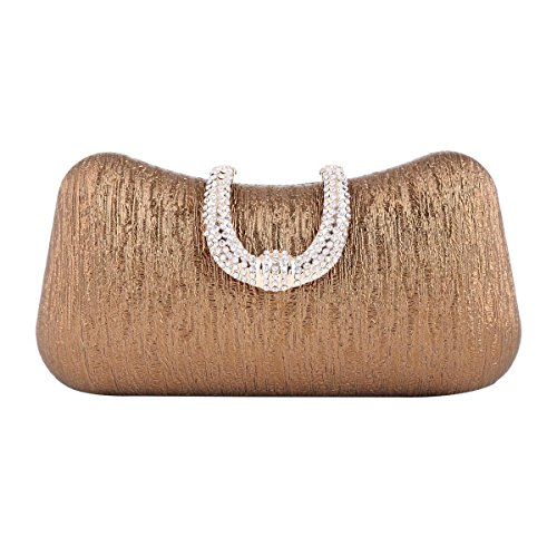 Womens Brown Party Damara Bag U Sparkling Elegant Clasp UwTdqTz