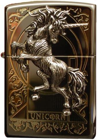 Zippo Unicorn Black Ice Lighter Made in USA / South Korea Version by Zippo Unicorn Black