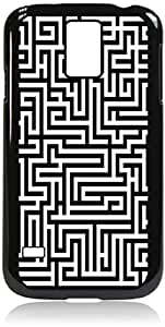 Labyrinth- Case for the Galaxy S5 i9600- Hard Black Plastic Snap On Case with Soft Black Rubber lining