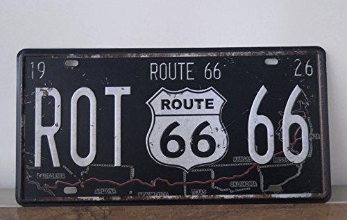 Classic Signs Route 66 Vintage Car License Plate Antique Tin Signs Home Pub Bar Decor Plaque Wall -