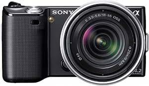 Sony NEX5KB digital SLR camera - Cámara digital (14,2 MP, SLR Camera Kit, CMOS, Prioridad de apertura AE, manual, Prioridad del capturador AE, Electrónico, auto, Llenar, Pre-flash, Reducción de ojos rojos, Sincronización lenta) Negro