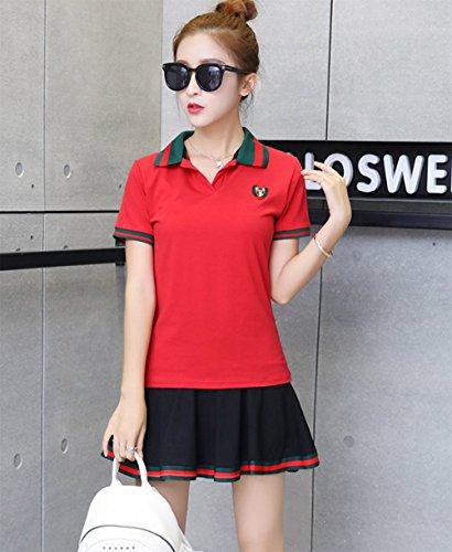 (ケイミ)KEIMI スポーツウェア 上下セット ジャージセットアップ 半袖 tシャツ ミニスカート テニス 野球 ゴルフウェア トレーニング 運動着 カジュアル
