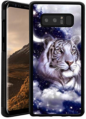 Samsung Galaxy Note 8 White Tiger Phone Case ChyFS Diztronic Full Matte Soft Touch Slim-Fit Flexible TPU Protective Case for Samsung Galaxy Note 8