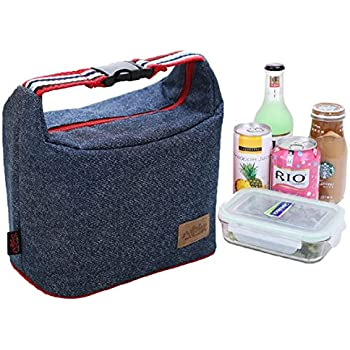 Lunch Bag Insulated Lunch Cooler Bags - Rayhee Reusable Handbag Lunch Tote Bags for Women / Men / Kids