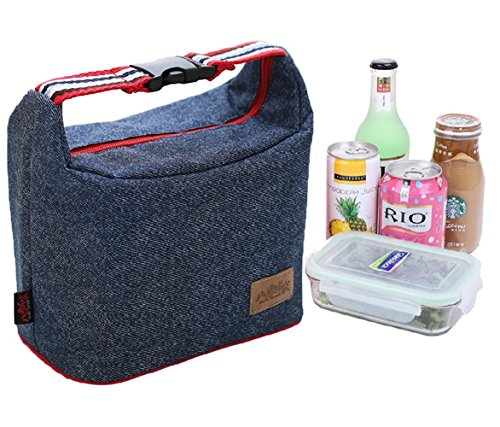 Buckle Denim - Rayhee Lunch Bag Insulated Lunch Cooler Bags Reusable Handbag Lunch Tote Bags for Women/Men