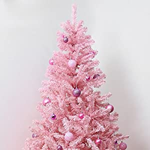 Pink Indoor Artificial Christmas Tree by Festive Lights ...
