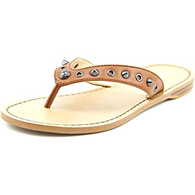 17723cc66e270f Coach Cottage Soft Women Open Toe Synthetic Brown Thong Sandal