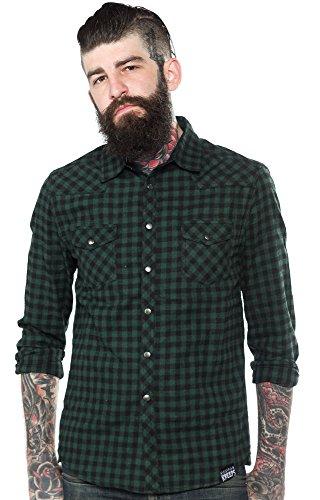 Kustom-Kreeps-Western-Shirt-Green
