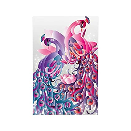 Amazon com: Peacock Feather Collage Poster Paper Print Wall Art