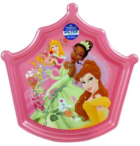 Pink Disney Princess Crown Shapped Plate - Disney Dinnerware