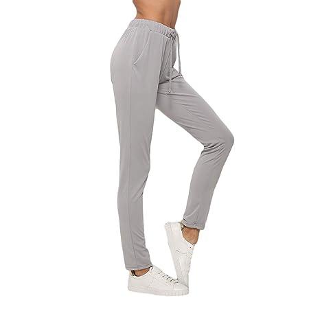 L_shop - Pantalones de chándal para Mujer con Tirantes y Cintura ...