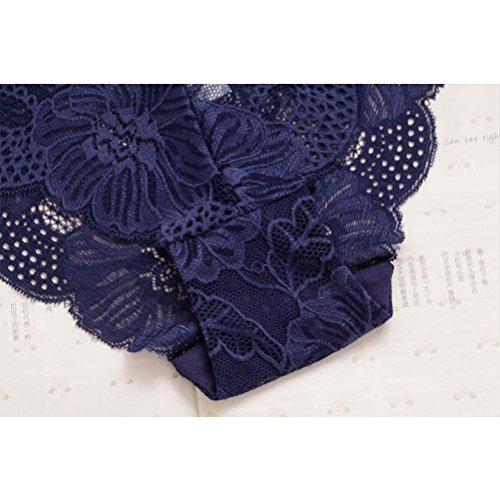 Zhhlaixing Fashion La ropa interior transpirable Seamless Lace Luxury Womens Underwear Hollow Underpants Black