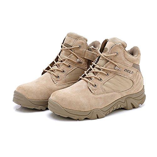 LiliChan Men's Side Zip Duty Work Tactical Boots (11, (Zip Assault Boot)