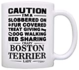 Best ThisWear Wife And Mom Coffee Mugs - Dog Lover Gifts for Women Crazy Boston Terrier Review