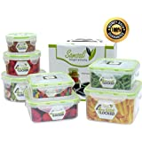 Plastic Food Storage Containers - Set of 7 - 100% Unconditional Guarantee