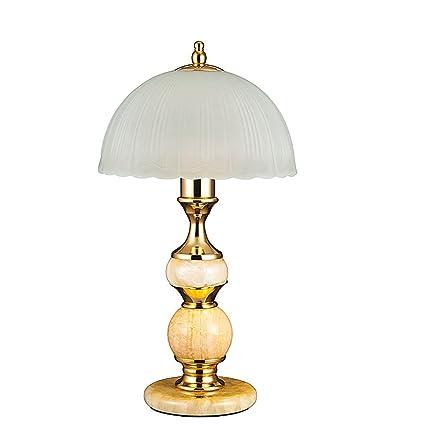 NJ Lámpara de mesa- Lámpara de mesa de mármol europea, mesa ...