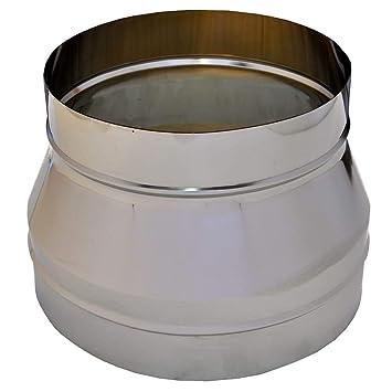 Tubo escape acero inoxidable para aumentar/disminuir, díametro 80-300mm, accesorios tubo