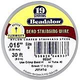 Beadalon Stringing Wire 19-Strand .015-Inch, 38-Millimeter Diameter 30-Feet-Pack, Bright