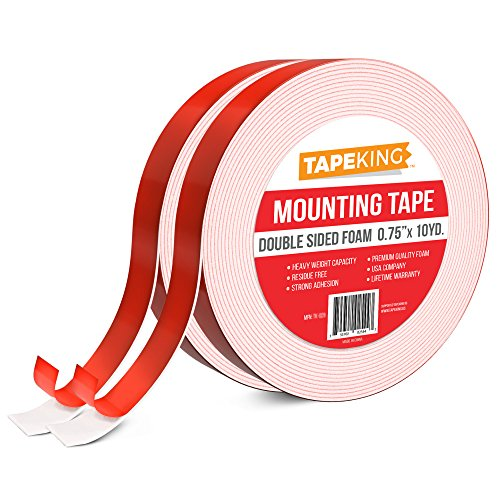Tape King Foam Mounting Tape (2-Pack) White, Double Sided 3/4 Inch x 9.7 Yards