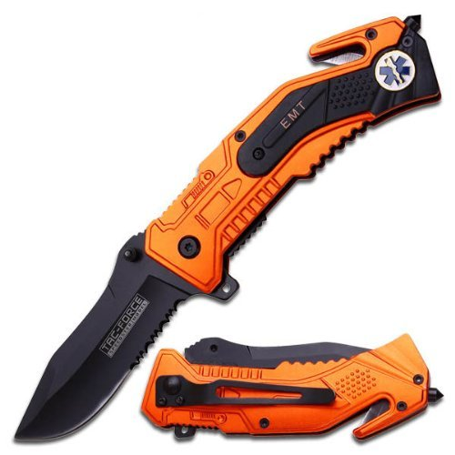 Tac Force Magnum Assisted Opening Rescue Knife - EMT