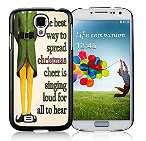 Best Buy Samsung S4 TPU Protective Skin Cover Merry Christmas Black Samsung Galaxy S4 i9500 Case 31