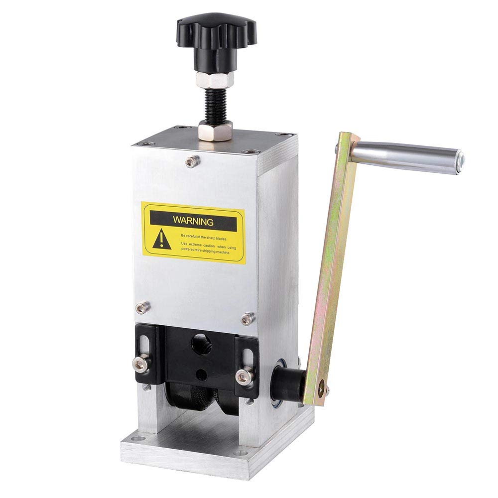 WeChef Manual Wire Stripping Machine Hand Crank Stripper for Scrap Copper Drill Connector Cable Peeling 0.06-0.98 inch by WeChef