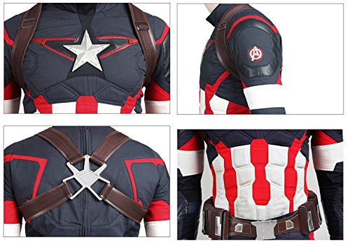 Captain Steve Rogers Costume (Avengers Age of Ultron Captain America Steve Rogers Cosplay Outfit Only)