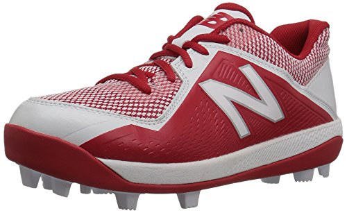 Red Kids Cleats (New Balance Boys' 4040v4, Red/White, 11 M US Little Kid)