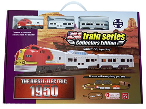 LEC USA 1950 Santa Fe Super Chief F7 EMD Battery Operated Train Set