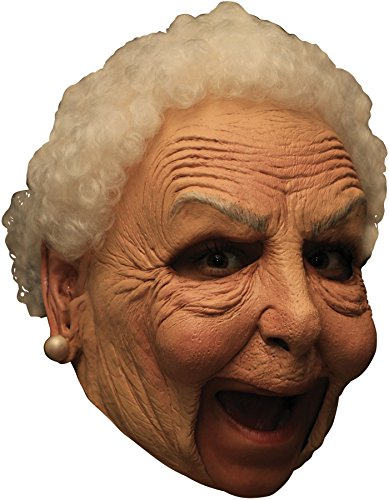 Ghoulish Women's Chinless Nanny Old Granny Latex Mask Halloween Costume Accessory