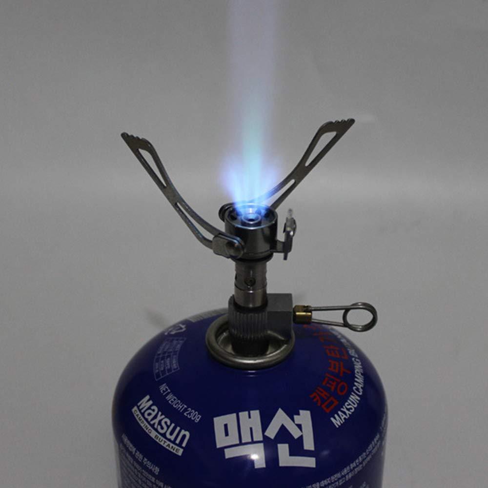 Popluxy Ultra-Ligero Mini Estufa de Gas para Acampar Al Aire Libre Bolsillo Plegable port/átil Picnic Estufa de Cocina Estufa de Gas Quemador de Supervivencia Alto en calor/ías 40 g