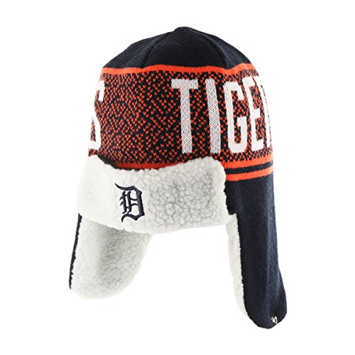 Mlb Detroit Tigers 47 Asteroid Sherpa Knit Beanie  Navy  One Size